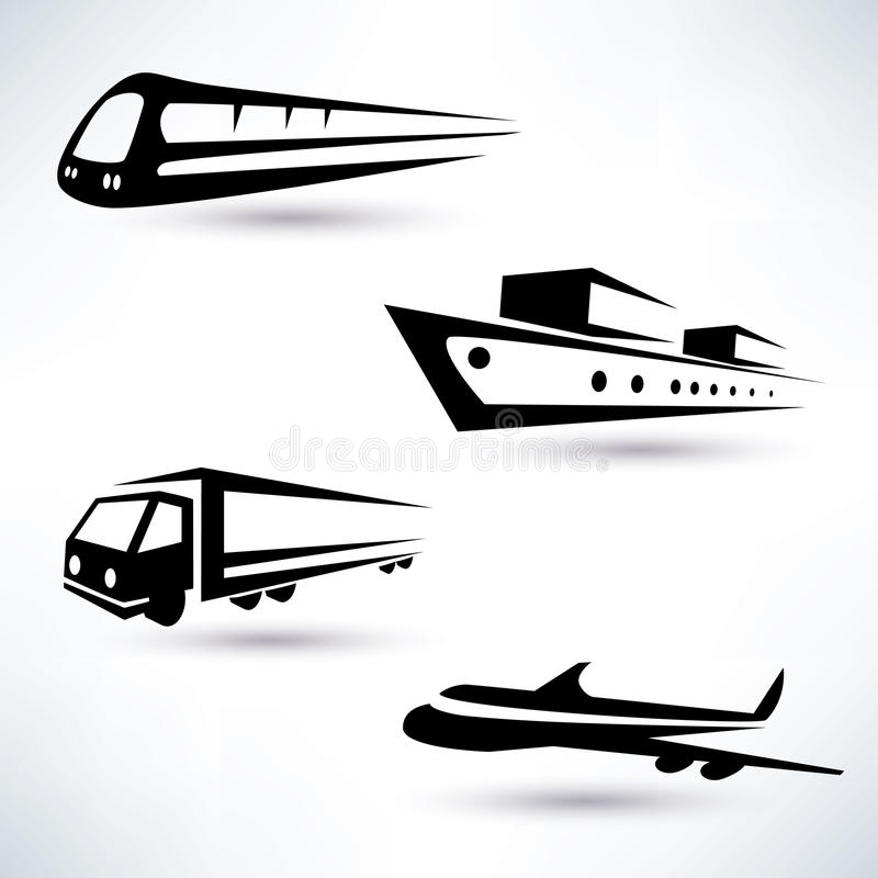 Download Cargo Transportation Icons Set Stock Vector - Illustration: 40418991