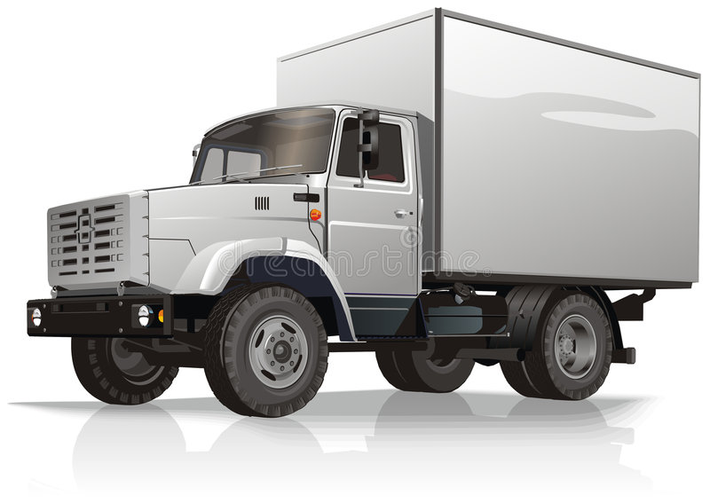 Cargo truck. Vector illustration cargo truck ZIL-478112. Isolated on white background with embed clipping path. Include EPS 8 royalty free illustration