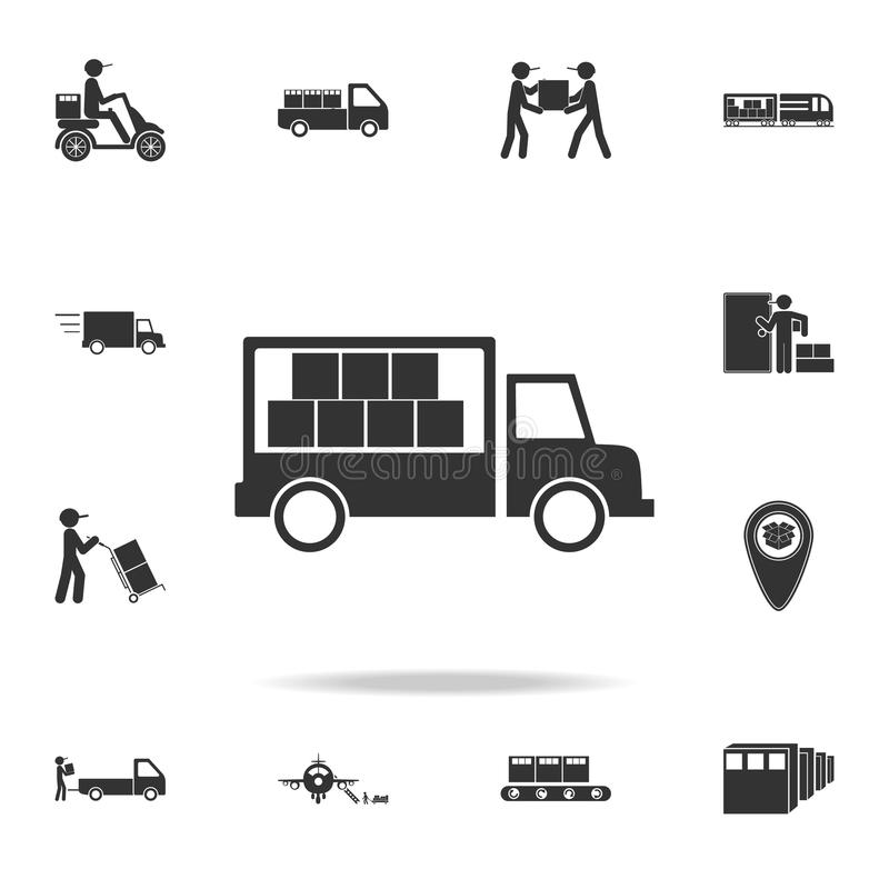 cargo truck icon. Detailed set of logistic icons. Premium graphic design. One of the collection icons for websites, web design, mo vector illustration