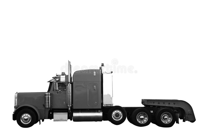 Cargo truck (includes clipping path) stock photography