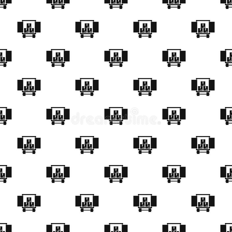 Cargo truck with load pattern, simple style. Cargo truck with load pattern. Simple illustration of cargo truck with load vector pattern for web design royalty free illustration