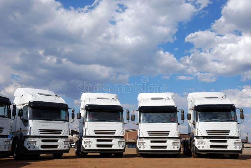 Cargo Trucks stock image