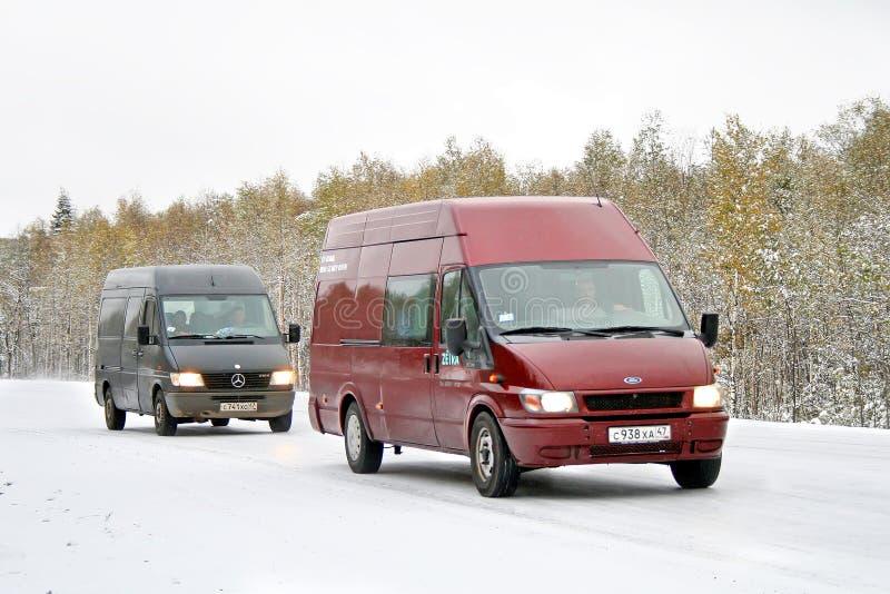 Cargo vans royalty free stock photo