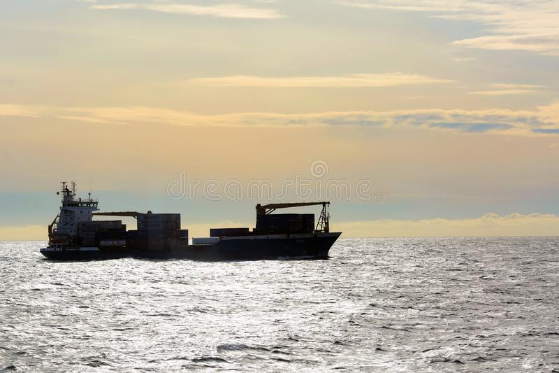 Cargo vessel royalty free stock photography
