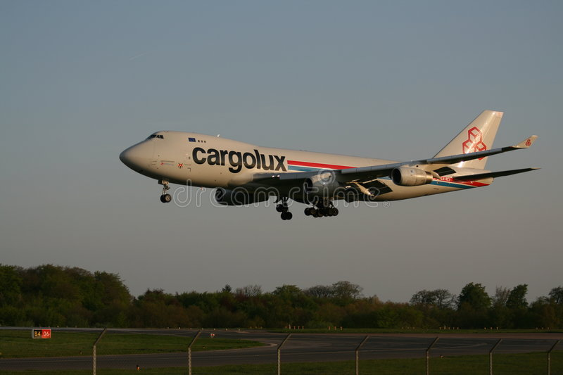 Download Cargolux 747 landing editorial photography. Image of airfreight - 7130517