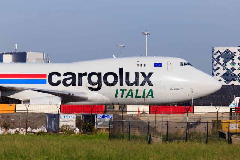 Cargolux boeing 747 editorial stock photo image of for B b italia carugo
