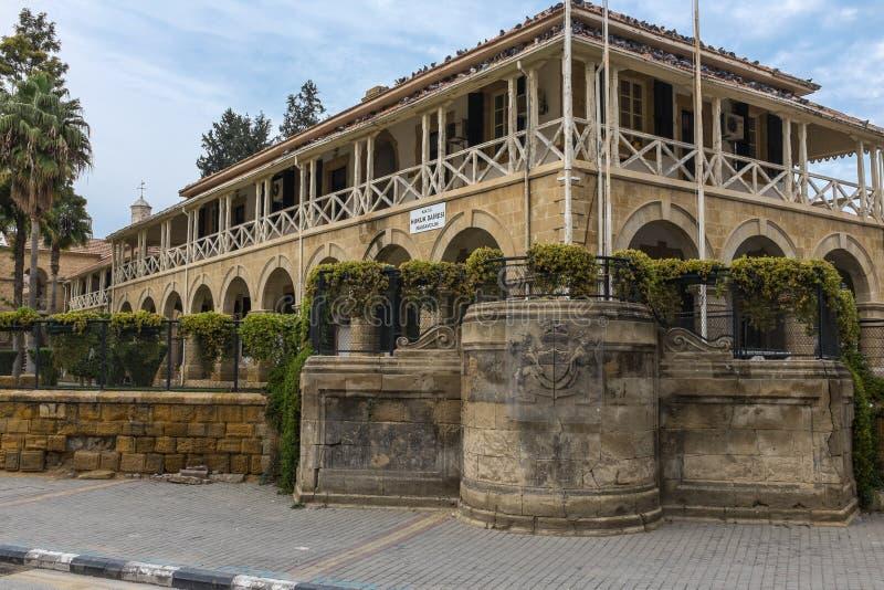 Cargos públicos, Nicosia, Chipre del norte imagen de archivo