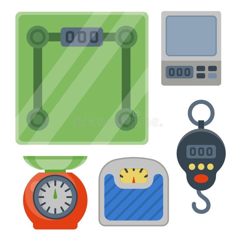 Cargue el ejemplo del vector del equipo de las herramientas de la balanza de la instrumentación de la medida ilustración del vector