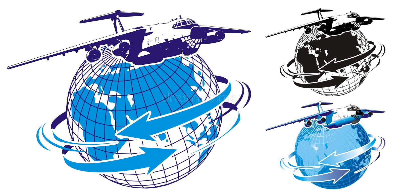 Carguero comercial del vector como insignia libre illustration