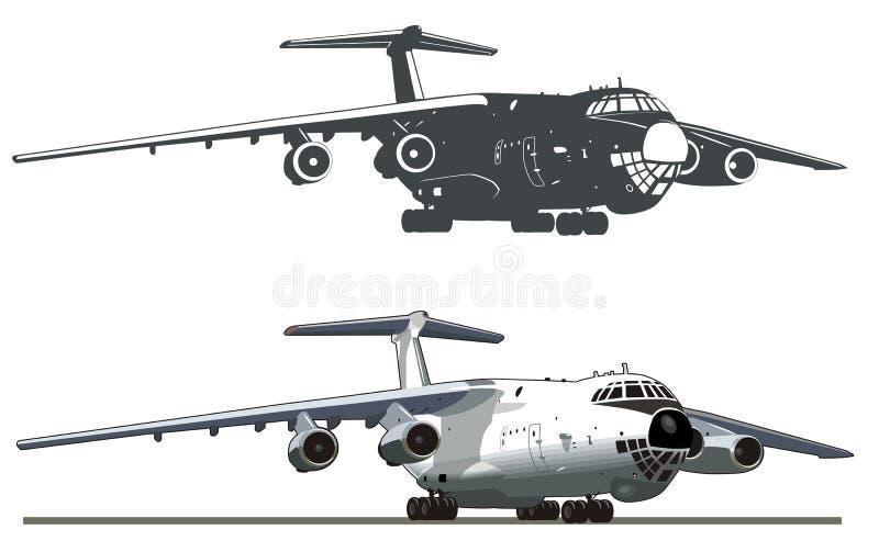 Carguero comercial IL-76 del vector libre illustration