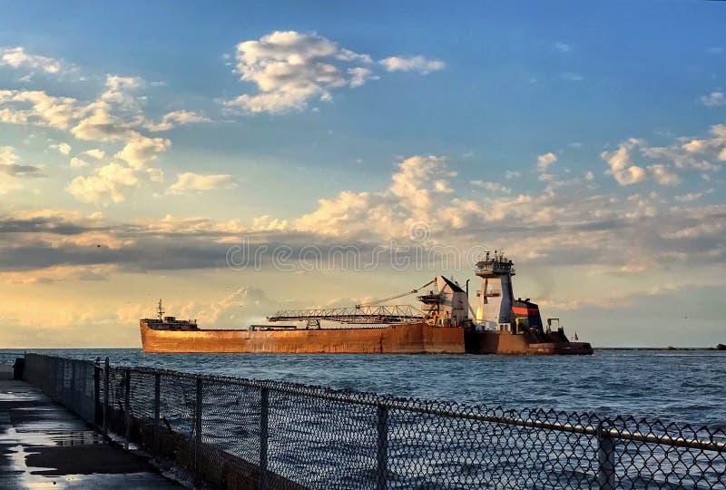 Carguero del lago Erie fotos de archivo libres de regalías