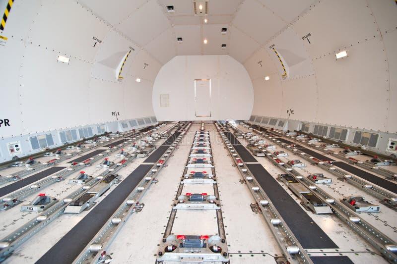 Carguero interior del flete aéreo imágenes de archivo libres de regalías