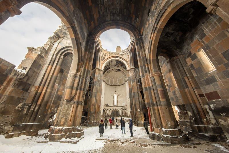 Carhedral Fethiye moské i den forntida staden för Ani, Kars, Turkiet royaltyfri fotografi