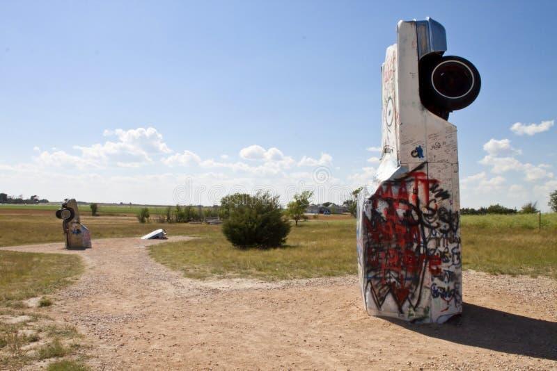 carhenge,内布拉斯加美国的Actraction 库存照片