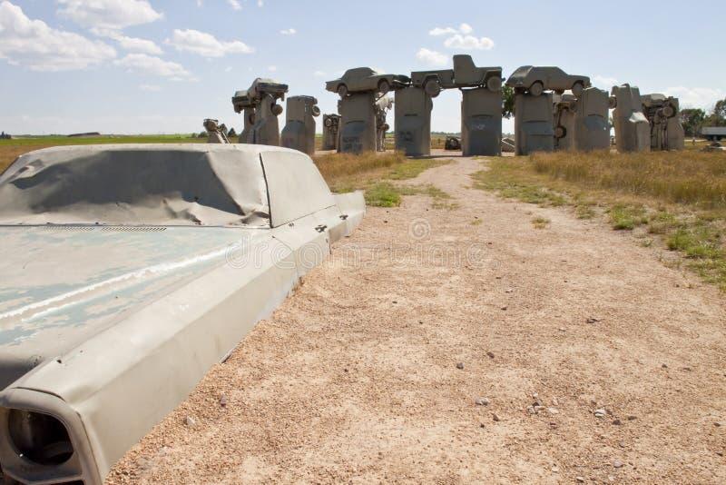 Carhenge,内布拉斯加美国 免版税库存图片
