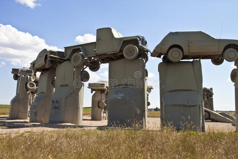 Carhenge,内布拉斯加美国 免版税库存照片