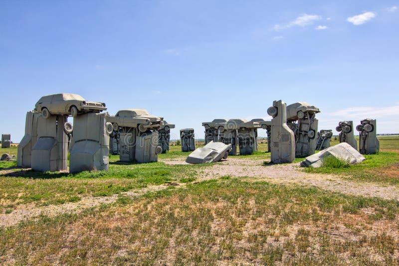Carhenge стоковое фото rf