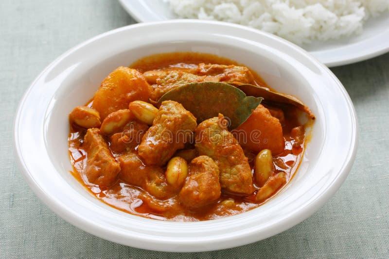 Cari de Massaman, nourriture thaïe photo libre de droits