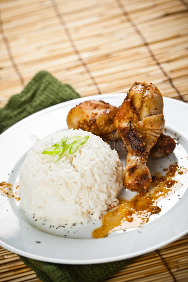 Cari de poulet photo stock