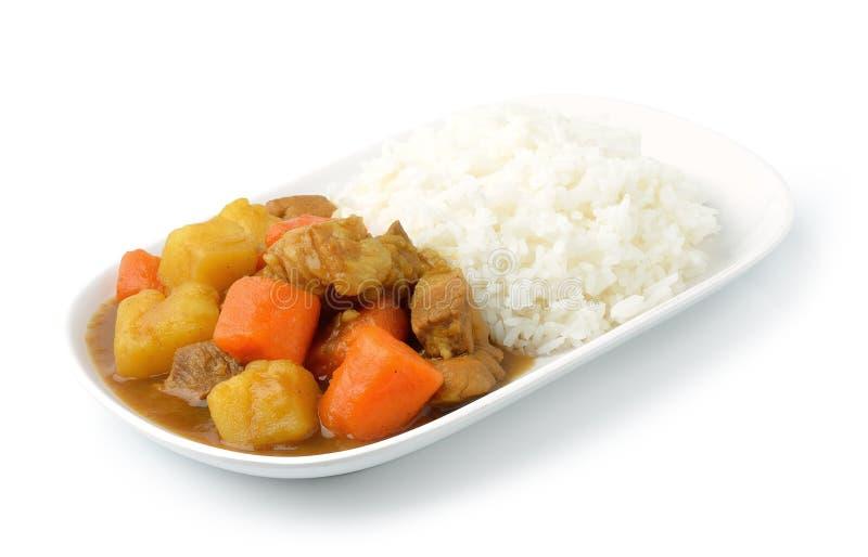 Cari et riz images stock