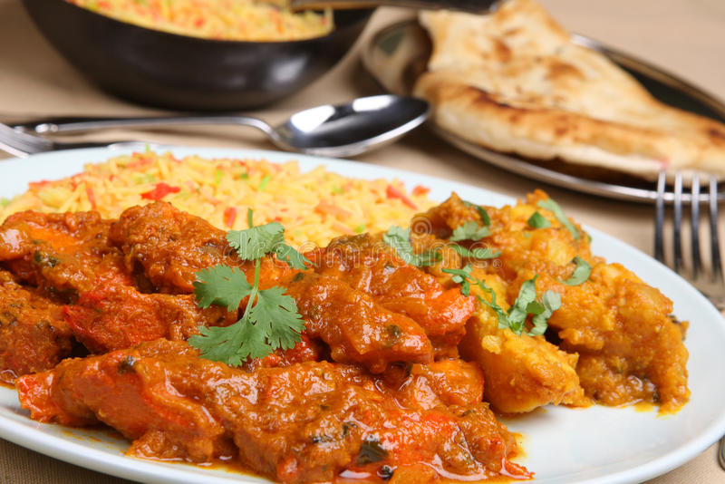 Cari indien de Vindaloo de poulet photo libre de droits