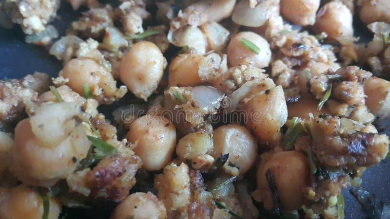 Cari traditionnel ou Chola Masala de pois de lentilles Channa Masala ou chiche photographie stock
