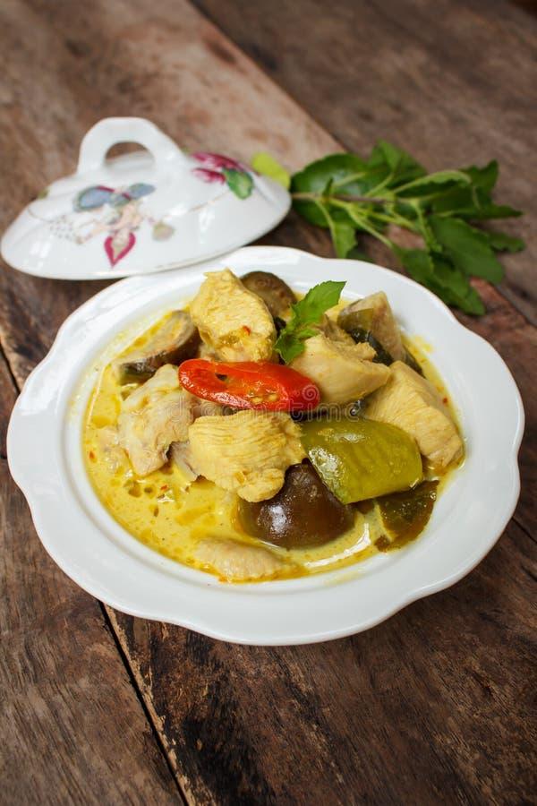 Cari vert de poulet, cuisine thaïlandaise images stock