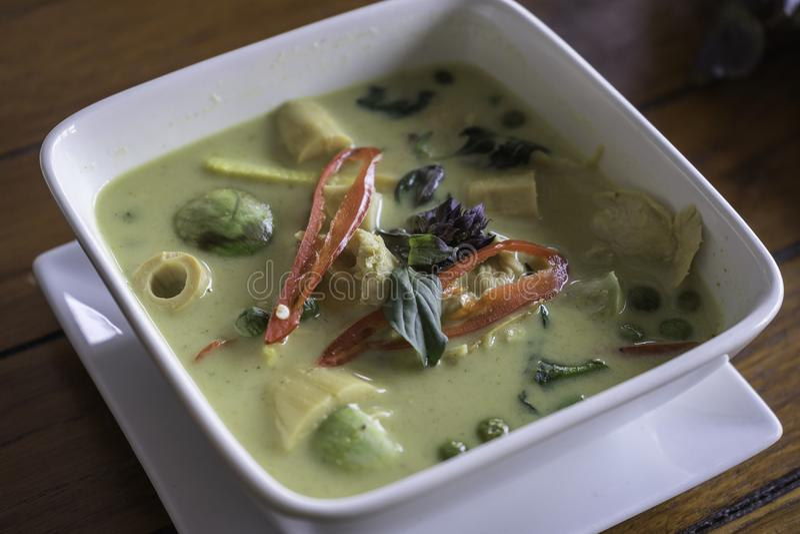 Cari vert thaï photo stock