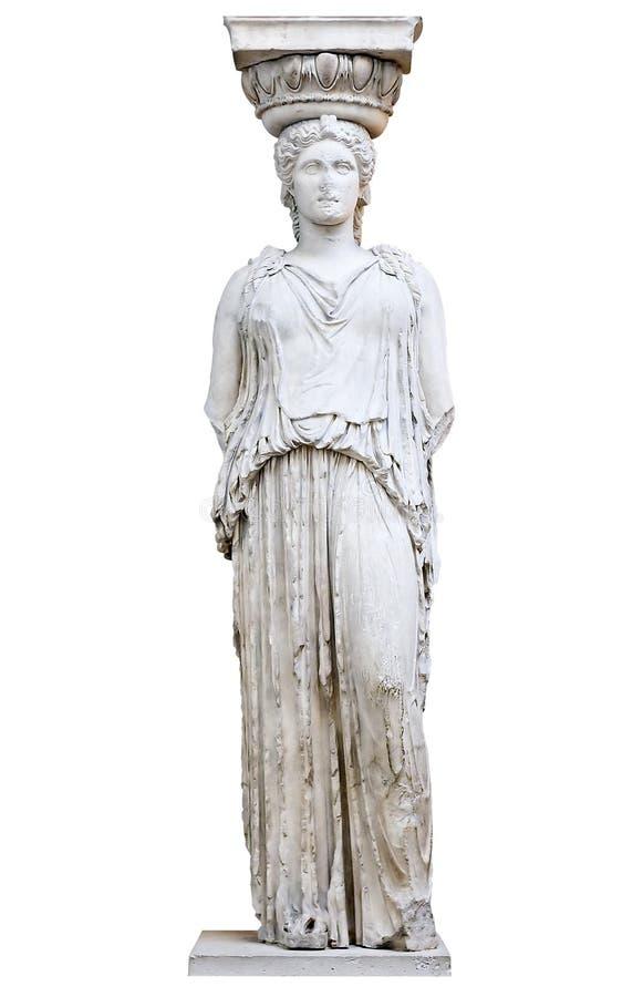 Cariatide grecque de l'Erechtheion photos libres de droits