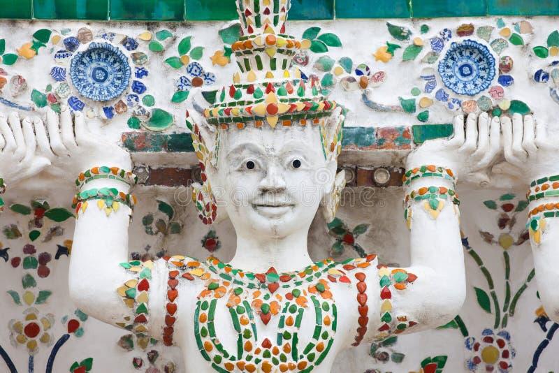 Cariatide a Wat Arun fotografia stock