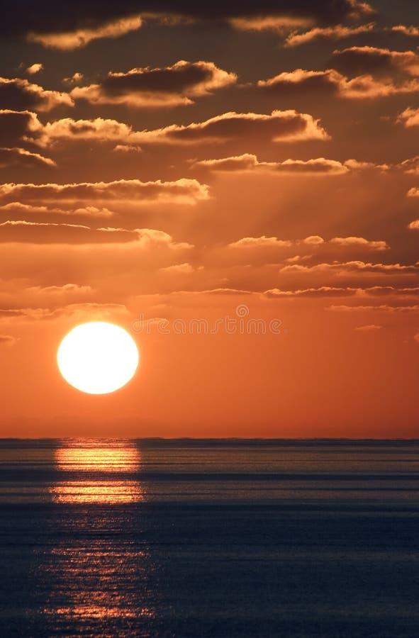 Carib-Sonnenuntergang 5 lizenzfreie stockfotografie