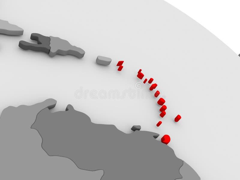 caribbean ilustración del vector