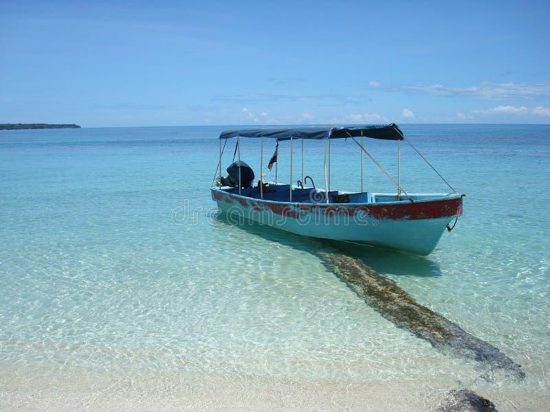 Caribbean beach. The Caribbean beach of Panama stock photography