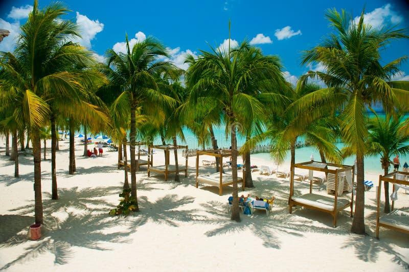 Caribbean Beach. Paradise Resort royalty free stock images