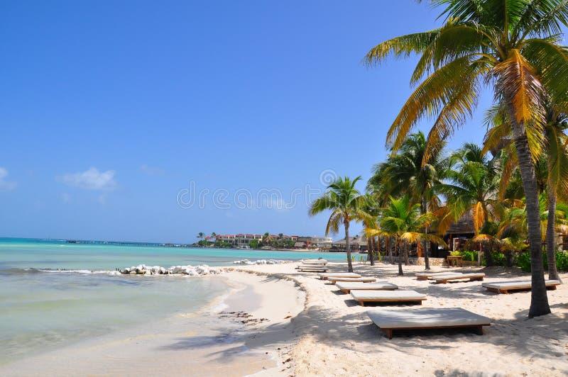 Caribbean Beach, Mexico. Caribbean beach resort on the island Isla Mujeres, Mexico stock photo