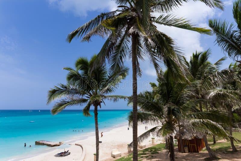 Caribbean beach scenery in Varadero Cuba - Serie Cuba Reportage stock images