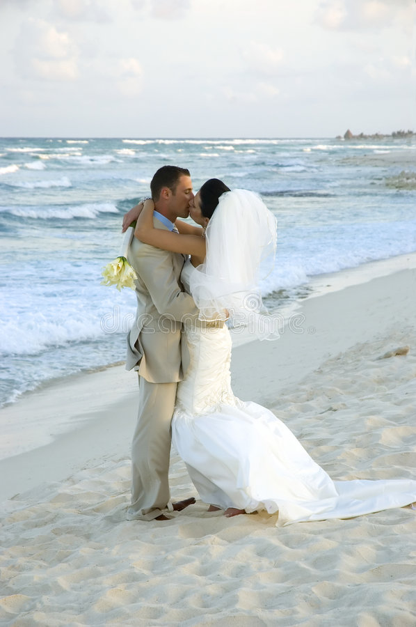 Caribbean Beach Wedding - The royalty free stock photo