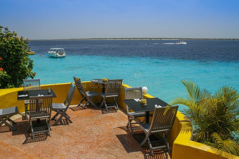 Caribbean cafe stock photo