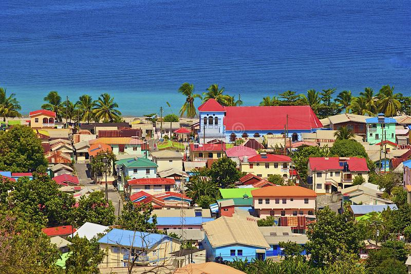 Caribbean city - St Lucia royalty free stock photography