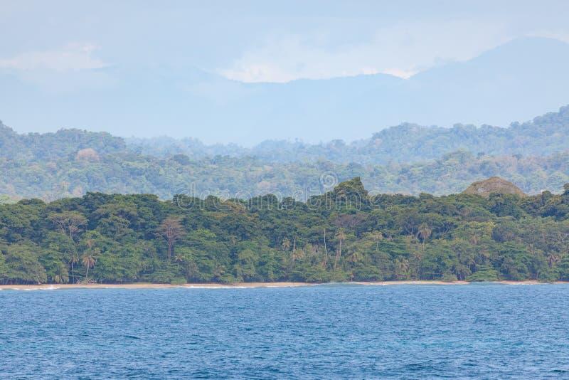 Caribbean coast Costa Rica far view royalty free stock photo