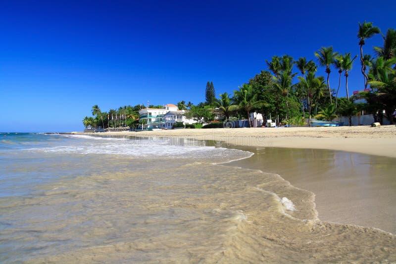 Caribbean coastline , Cabarete stock photos