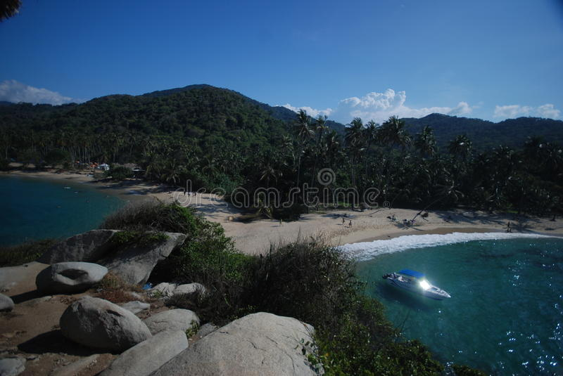Download Caribbean Colombian beach stock photo. Image of playa - 13244938
