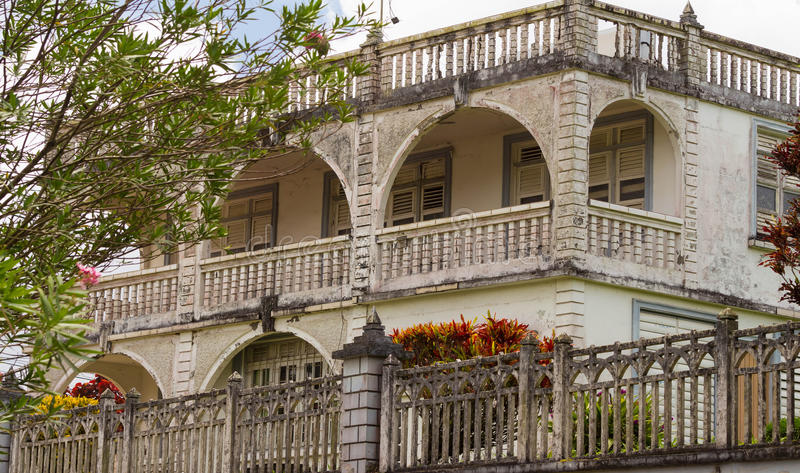 Download The Caribbean Colonial Style Building Martinique Island Stock Photo