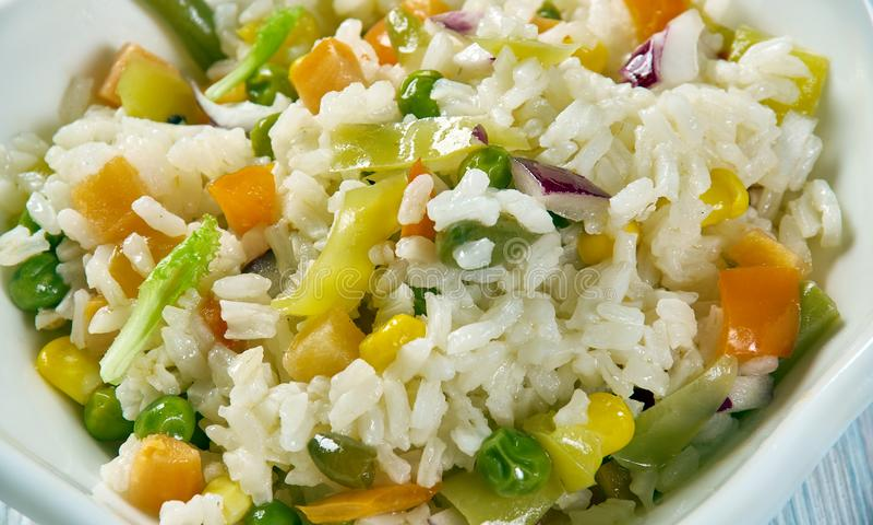 Caribbean Confetti Rice stock images