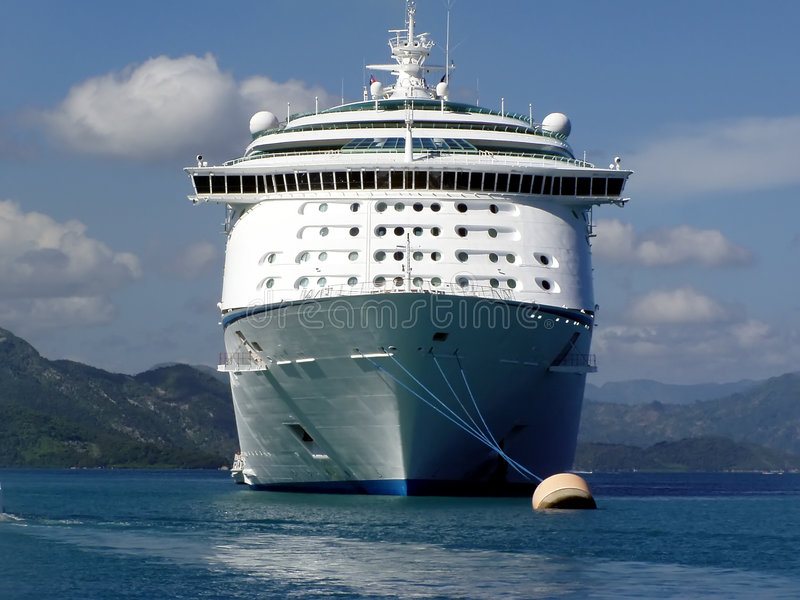 Download Caribbean Cruise Ship stock image. Image of ship, clouds - 115993
