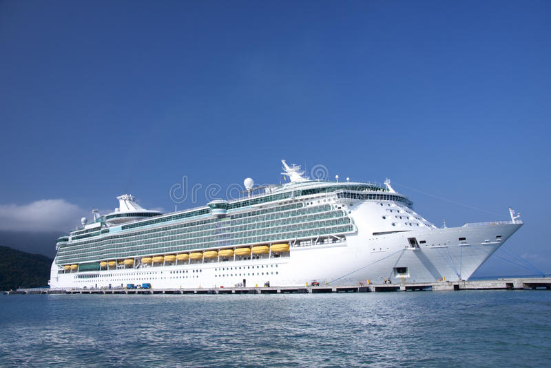 Caribbean cruise ship stock photography