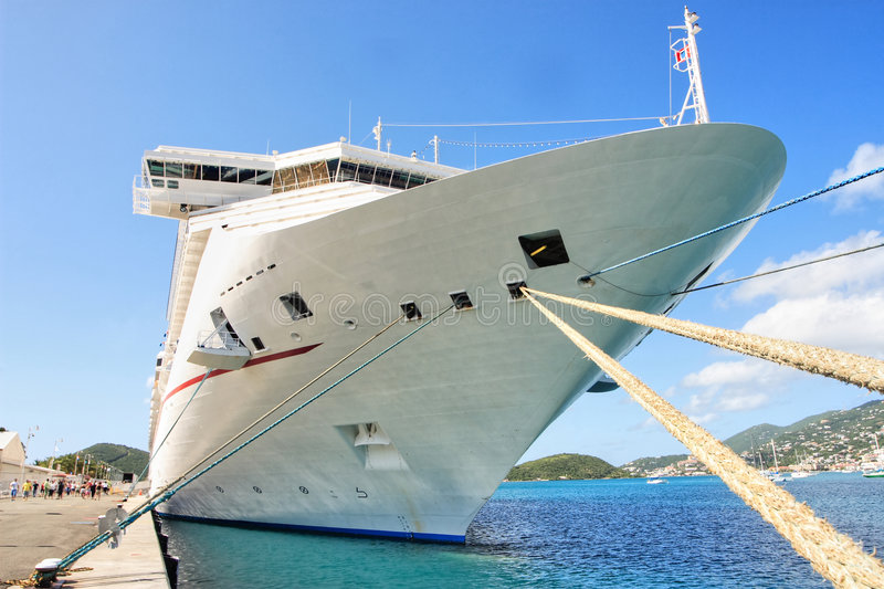 Caribbean Cruise Ship Stock Photo