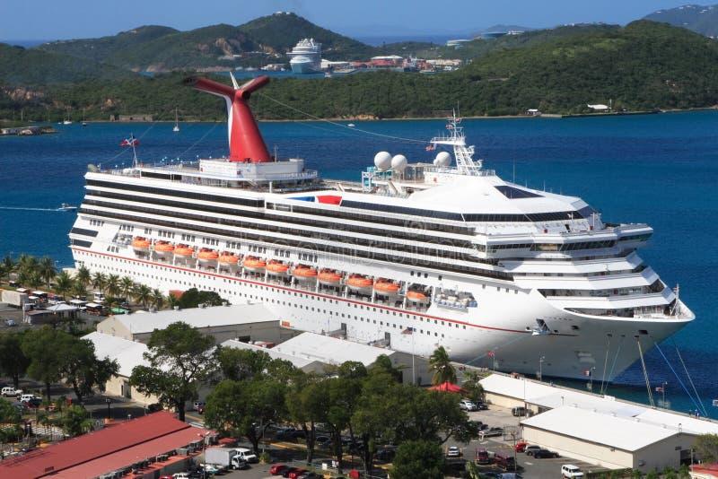 Download Caribbean Cruise Ship stock image. Image of port, sunshine - 3870345
