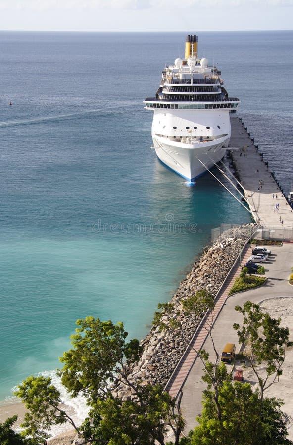 Caribbean Cruiseport royalty free stock photography