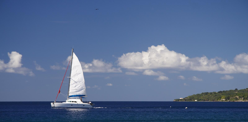 Caribbean Cruising royalty free stock photo